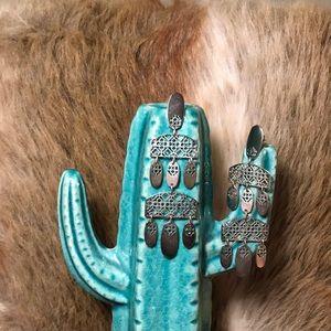 Kendra Scott Silver Filigree Emmett Earrings